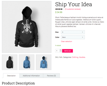 Best WooCommerce Themes | Pop Up Shop product page