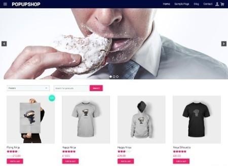 Pop Up Shop WooCommerce Theme Review