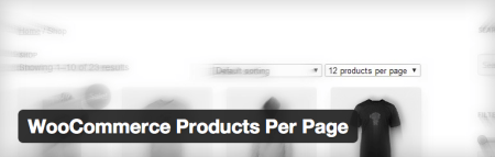 Free WooCommerce extensions | products per page