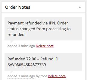 WooCommerce 2.2 Refund Order Notes