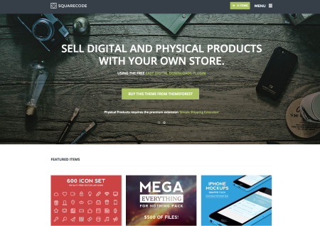 Squarecode   Best Easy Digital Downloads themes