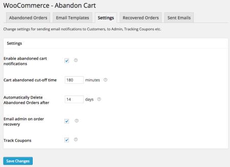 WooCommerce Abandoned Cart Pro Review   Settings