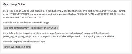 WordPress Simple PayPal Shopping Cart | Quickstart