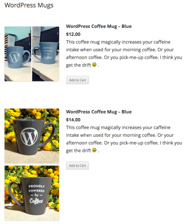 WordPress Simple PayPal Shopping Cart | products