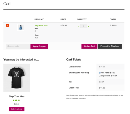 Storefront Best free WooCommerce theme   cart page