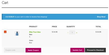 Storefront Best free WooCommerce theme   Cart Notices