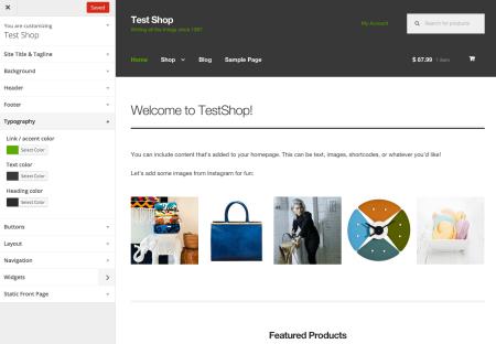 Storefront Best free WooCommerce theme   customizer