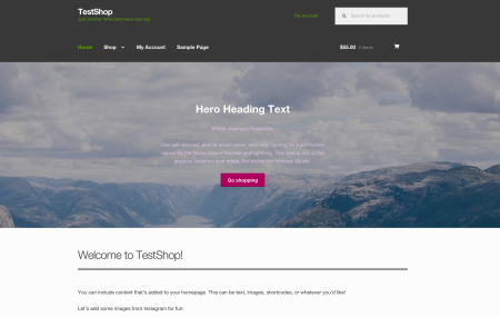 Storefront Best free WooCommerce theme   Parallax hero section