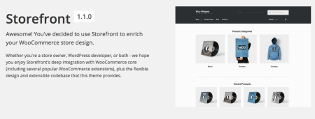 Storefront Best free WooCommerce theme   welcome