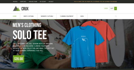 Best WooCommerce themes | Crux review: