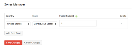 iThemes Exchange Table Rate Shipping | Contiguous states