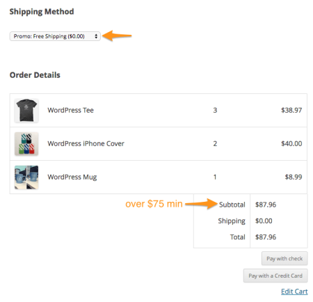 iThemes Exchange Table Rate Shipping | free shipping