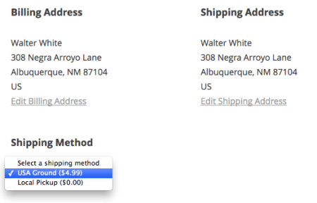 iThemes Exchange Table Rate Shipping | local pickup