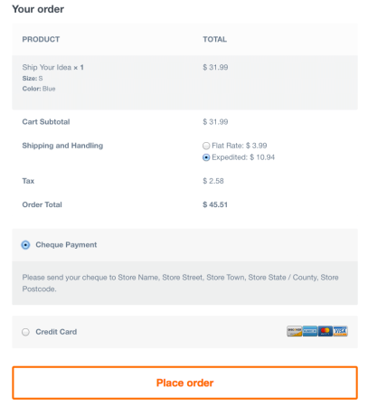Best WooCommerce themes | Upstart review: checkout