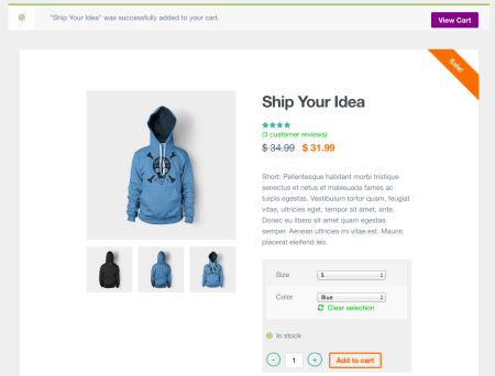 Best WooCommerce themes | Upstart review: product