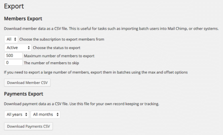 Restrict Content Pro Review: exporting
