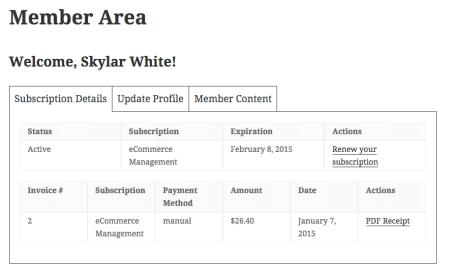 Restrict Content Pro Review: member area