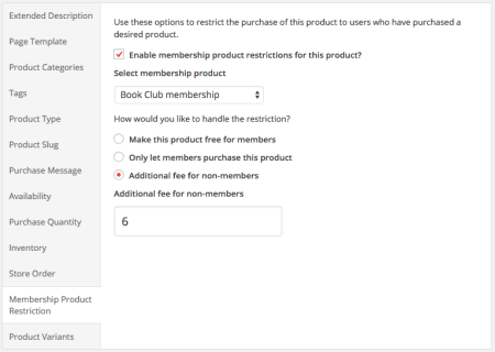 iThemes Exchange Purchasing Club: product restrictions 1