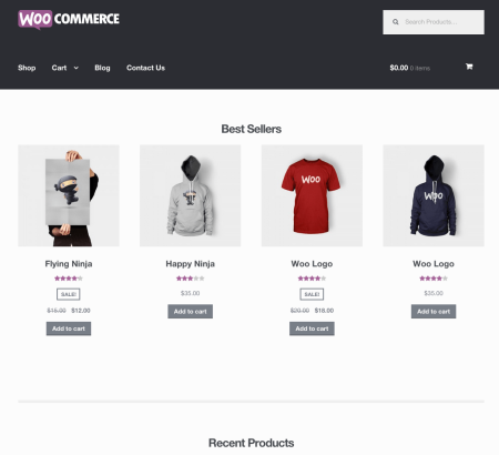 Storefront updated homepage