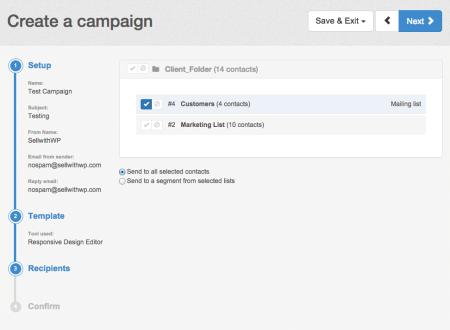 SendinBlue Review (AWeber alternative): campaign options