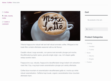 WooCommerce theme storefront no title post