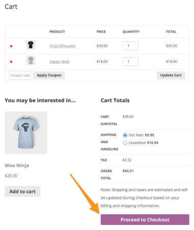 WooCommerce 2.3 Review: 2.3 cart page