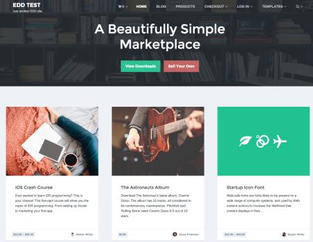 Checkout Marketplace Theme | homepage