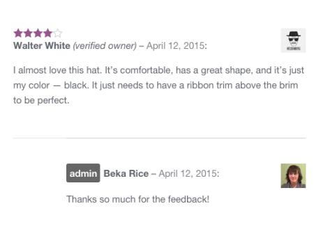 WooCommerce admin review badge