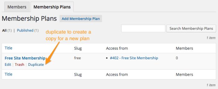 WooCommerce Memberships Review: Duplicate plan