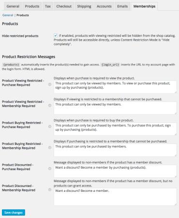 WooCommerce Memberships Review: Product Settings