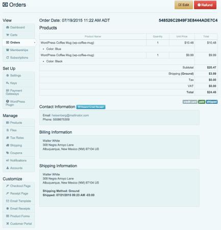Cart66 Cloud Review: order screen