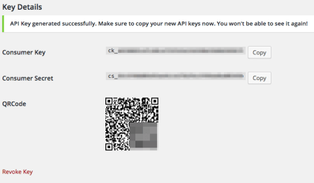 WooCommerce 2.4 Review: api create key