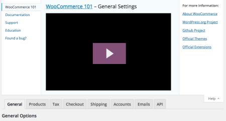 WooCommerce 2.4 Review: help settings
