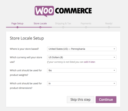 WooCommerce 2.4 Review: wizard step 3