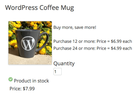 WP eCommerce show quantity discounts