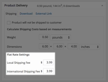 WP eCommerce set per-product shipping