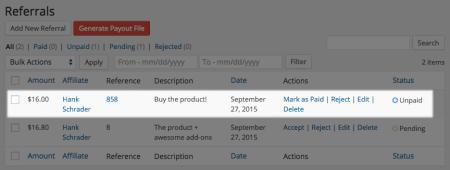 AffiliateWP Ninja Forms referrals