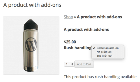 Shopp add-ons displayed