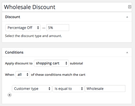 Shopp Create wholesale discount