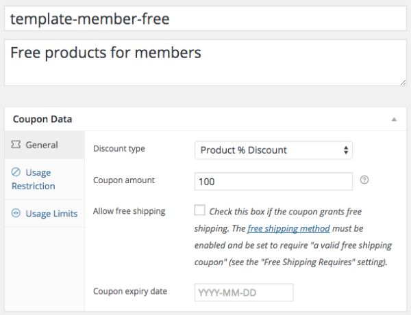 AutomateWoo Subscriber Coupons: Create Coupon Template
