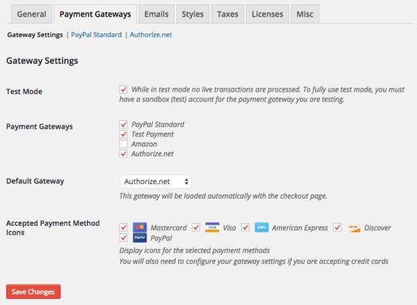 Easy Digital Downloads 2.5 Review: v2.5 settings