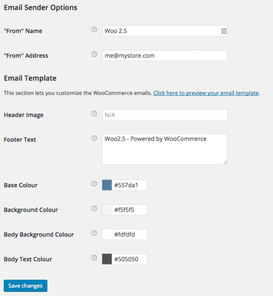 WooCommerce 2.5 Review: WC 2.5 Email Settings