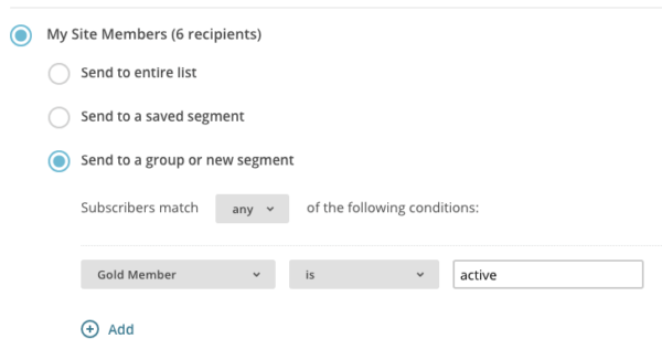 MemberPress active membership segment