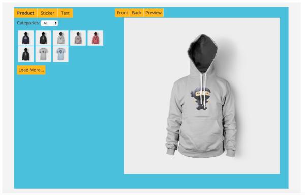 products t-shirt designer