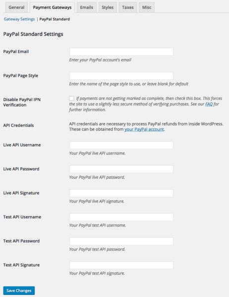 Easy Digital Downloads 2.6 Review: EDD 2.6 paypal settings