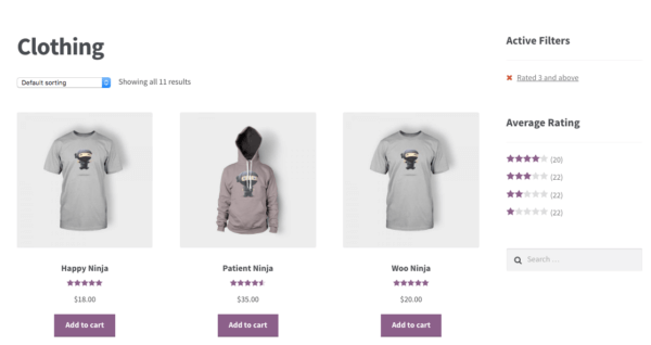 WooCommerce 2.6 Review: filter by rating widget