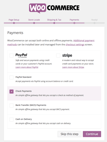 WooCommerce 2.6 Review: WooCommerce 2.6 wizard - payments