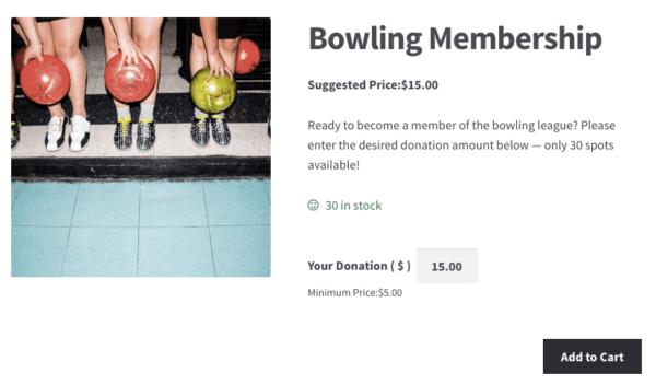 WooCommerce donation-based membership purchasing