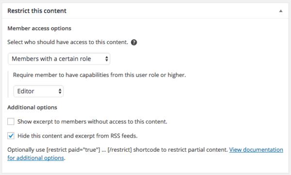 Restrict Content Pro 2.6 Review: RCP 2.6 role restriction