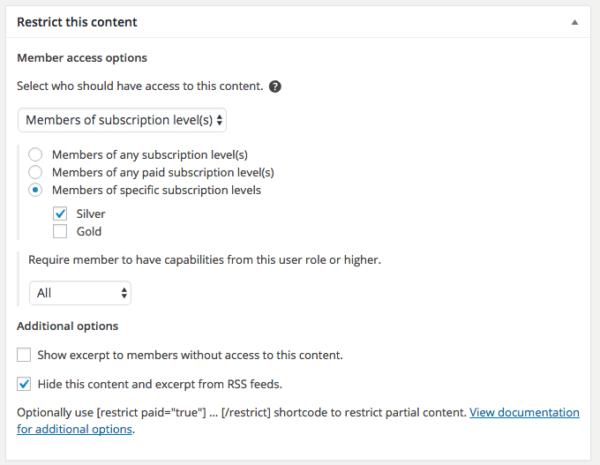 Restrict Content Pro 2.6 Review: RCP 2.6 subscription-level restriction